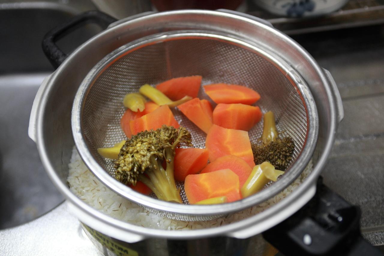 野菜を蒸した